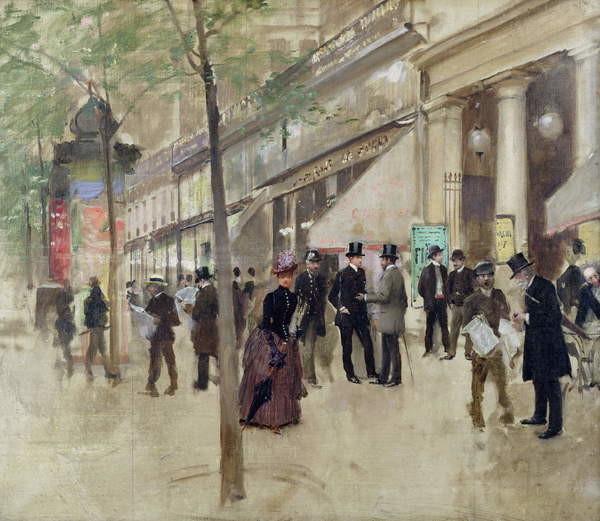 Obrazová reprodukce The Boulevard Montmartre and the Theatre des Varietes, c.1886