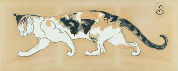 Obrazová reprodukce The Cat