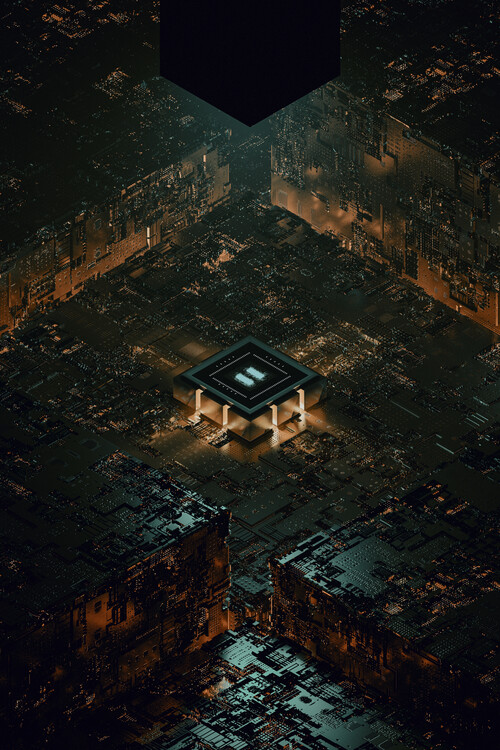Umelecká fotografie The city of ia circuits series 3