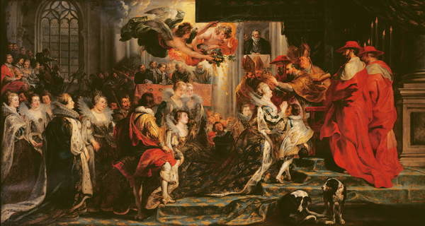 Obraz na plátně  The Coronation of Marie de Medici (1573-1642) at St. Denis, 13th May 1610, 1621-25