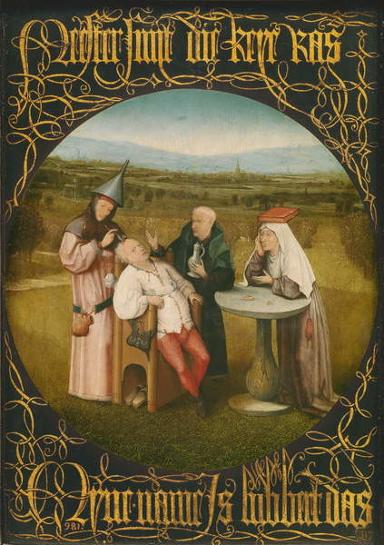 Pinturas sobre lienzo  The Cure of Folly, c.1494