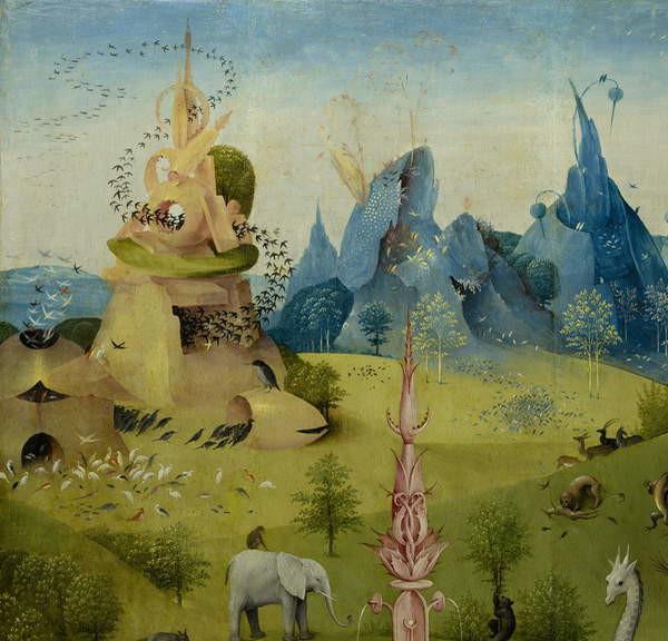 Reproducción de arte  The Garden of Earthly Delights, 1490-1500