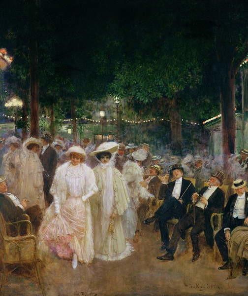 Reproducción de arte The Gardens of Paris, or The Beauties of the Night, 1905