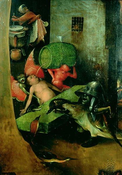 Reproducción de arte The Last Judgement : Detail of the Cask