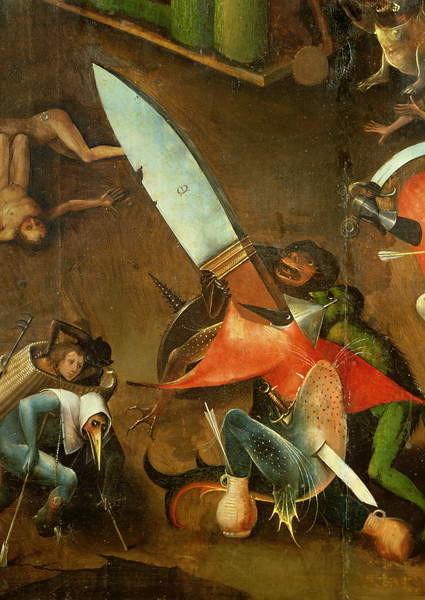 Reproducción de arte  The Last Judgement : Detail of the Dagger