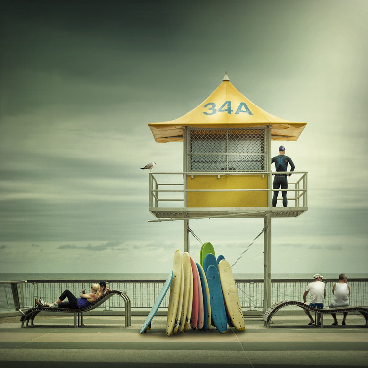 Kunstfotografi The life guard