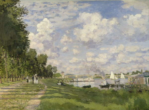 Stampa artistica The Marina at Argenteuil, 1872