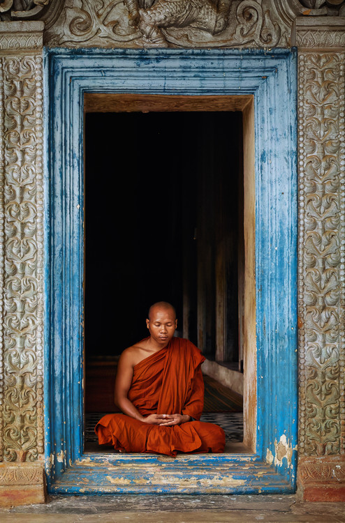 Konstfotografering The Monks of Wat Bo