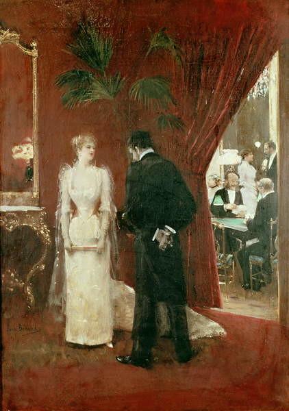 Obraz na plátně  The Private Conversation, 1904