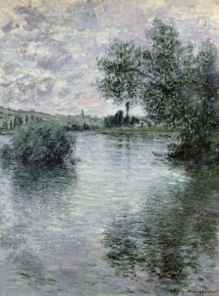 Obraz na plátně The Seine at Vetheuil, 1879