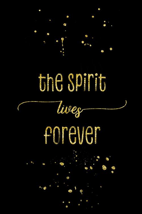 Kunstfotografie The Spirit Lives Forever | Gold