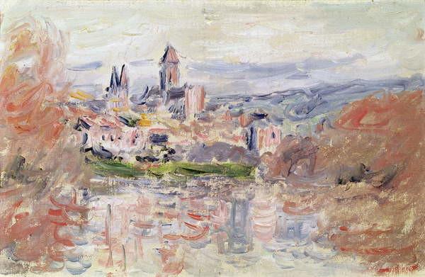 Reproducción de arte  The Village of Vetheuil, c.1881