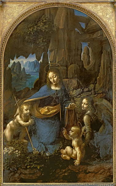 Obrazová reprodukce The Virgin of the Rocks (with the Infant St. John adoring the Infant Christ accompanied by an Angel), c.1508