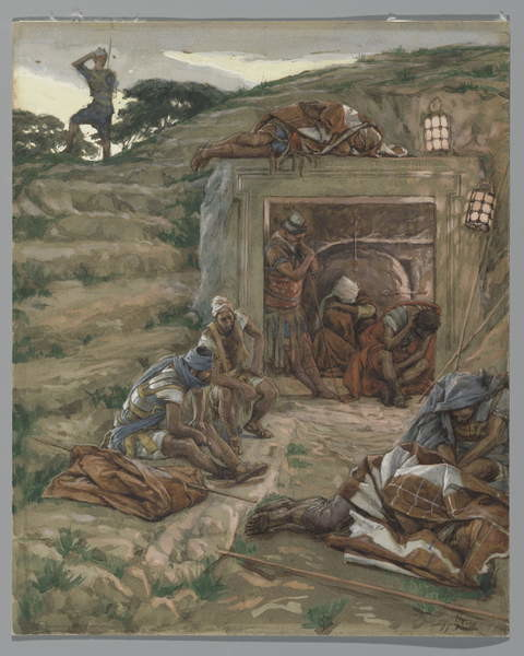 Obrazová reprodukce  The Watch Over the Tomb, illustration from 'The Life of Our Lord Jesus Christ', 1886-94