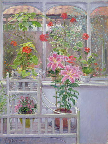 Through the Conservatory Window, 1992 Reproduction de Tableau