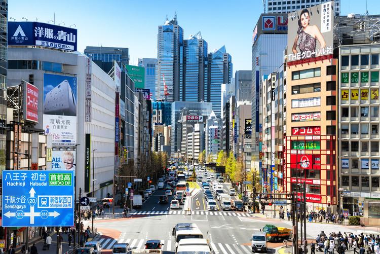 Umělecká fotografie Tokyo Cityscape
