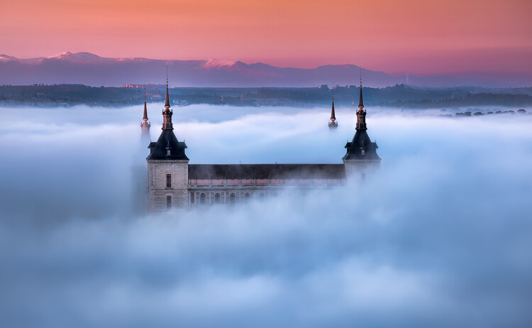Kunstfotografi Toledo City Foggy Sunset
