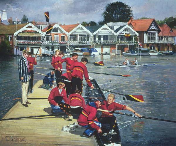 Obrazová reprodukce Towards the Boathouses, Henley, 1997
