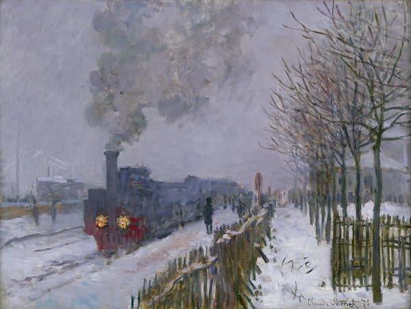 Obrazová reprodukce Train in the Snow or The Locomotive, 1875