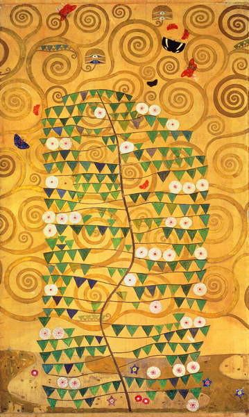 tree of life stoclet frieze kunsttryk reproduktion billede p. Black Bedroom Furniture Sets. Home Design Ideas