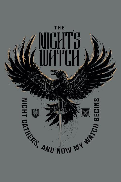 Plakát Trónok harca - The Night's Watch