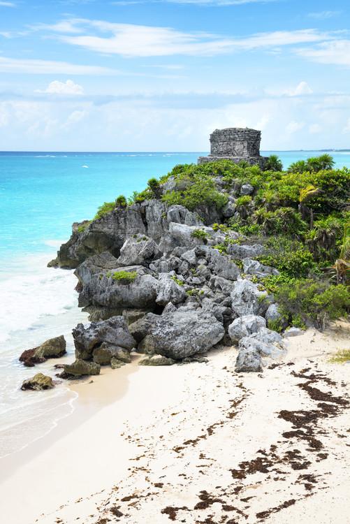 Umělecká fotografie Tulum Ruins along Caribbean Coastline