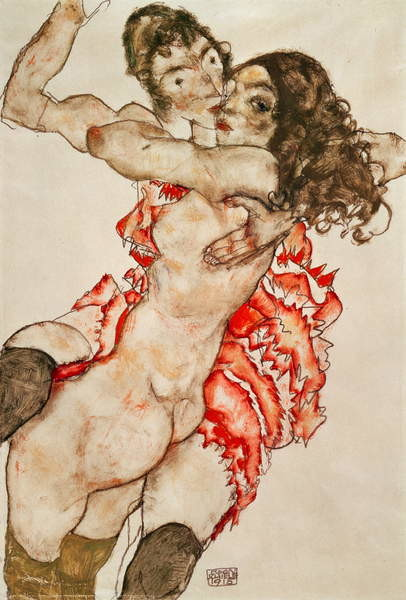 Obrazová reprodukce Two Women Embracing, 1915