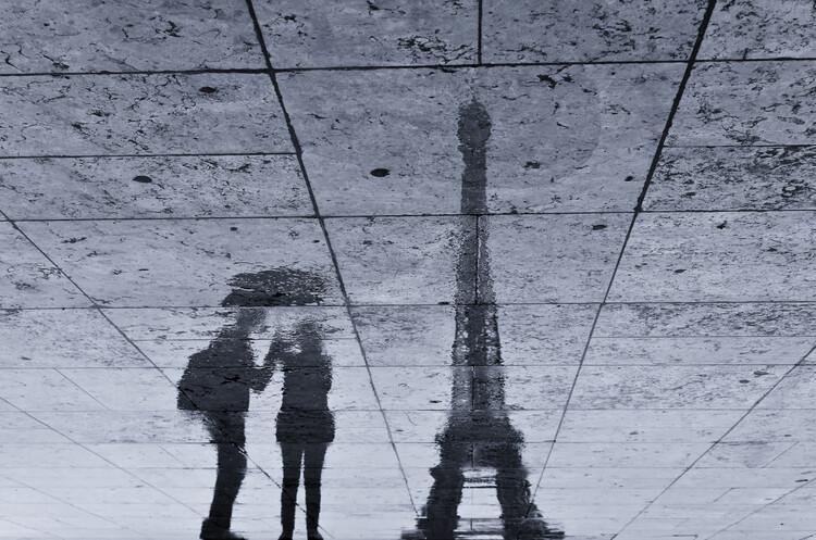 Umělecká fotografie Under the Rain in Paris