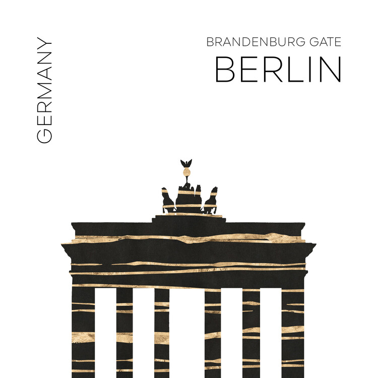 Ilustrace Urban Art BERLIN Brandenburg Gate