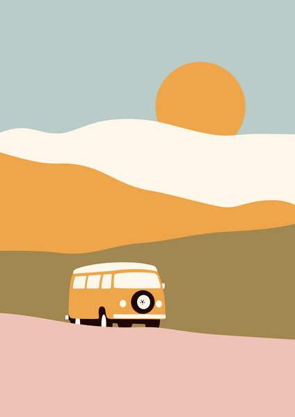 Obrazová reprodukce Van Trip