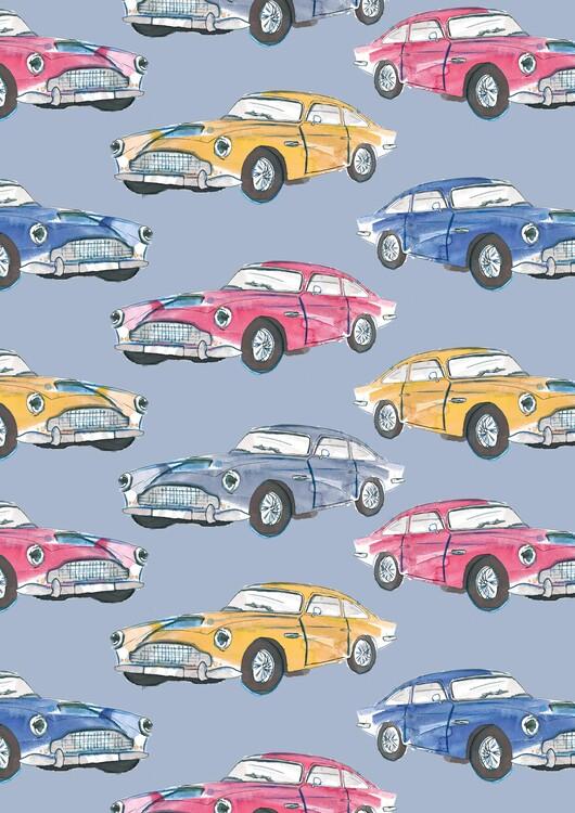 Ilustrace Vintage cars