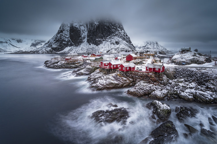 Kunstfotografie winter Lofoten islands