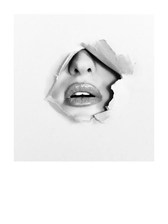 Umelecká fotografia woman face plant