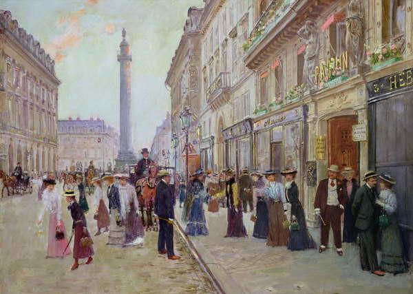 Reproducción de arte Workers leaving the Maison Paquin, in the rue de la Paix, c.1900
