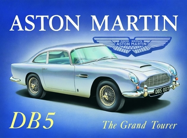 aston martin db5 plaque m tal d cor e acheter le sur. Black Bedroom Furniture Sets. Home Design Ideas