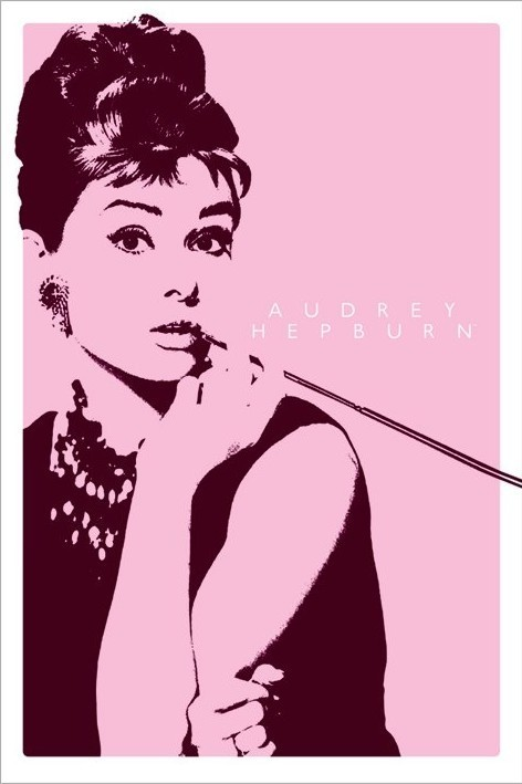 AUDREY HEPBURN - cigarello - плакат (poster)