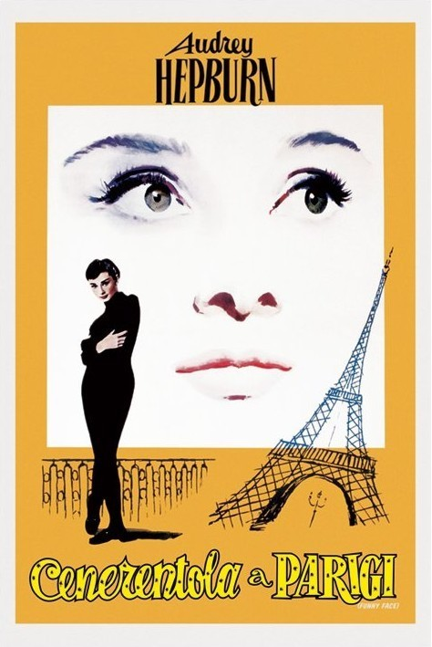 AUDREY HEPBURN - funny face - плакат (poster)