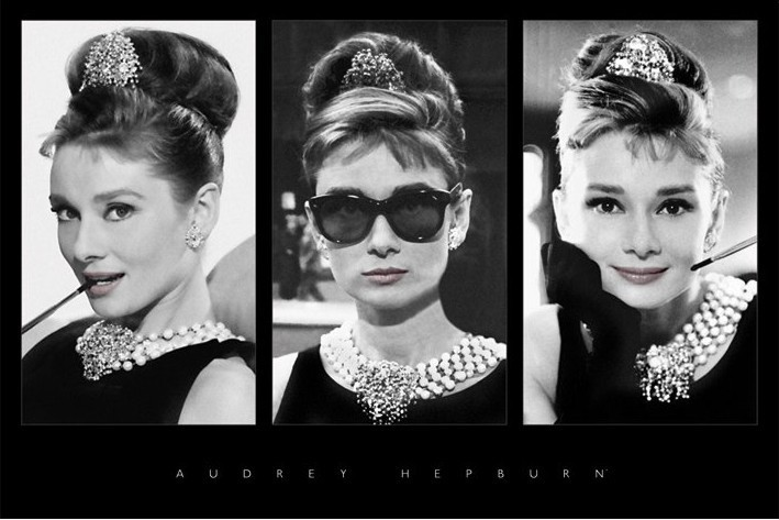 Audrey Hepburn - triptych - плакат (poster)