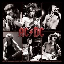 AC/DC - live - Aufkleber