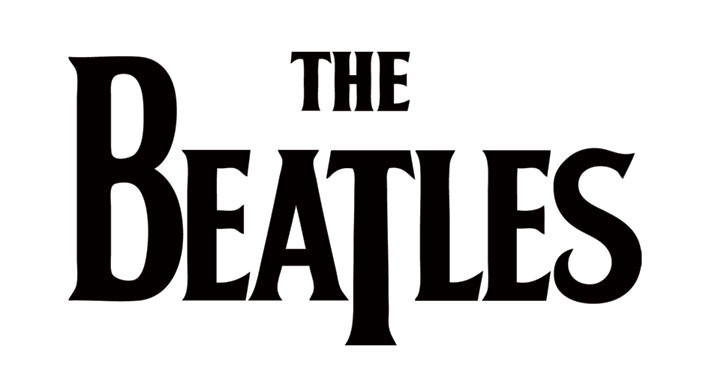BEATLES - black logo - Aufkleber