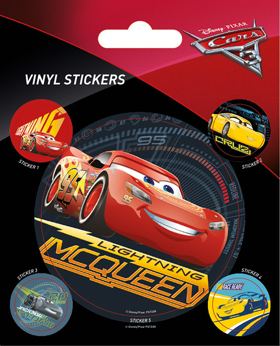 vinyl aufkleber cars 3 lightning mcqueen bei europosters. Black Bedroom Furniture Sets. Home Design Ideas