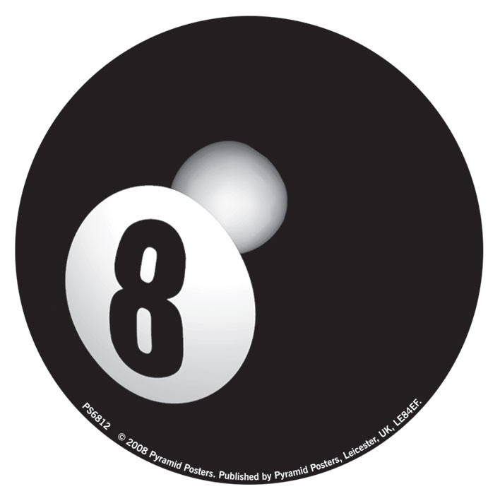 EIGHT BALL - Aufkleber