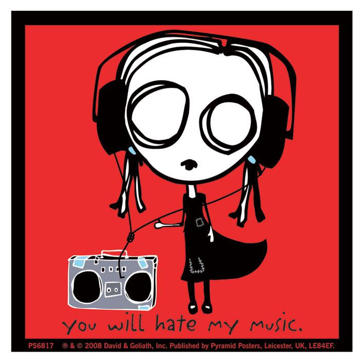 EVE.L - hate my music - Aufkleber
