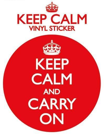KEEP CALM AND CARRY ON - Aufkleber