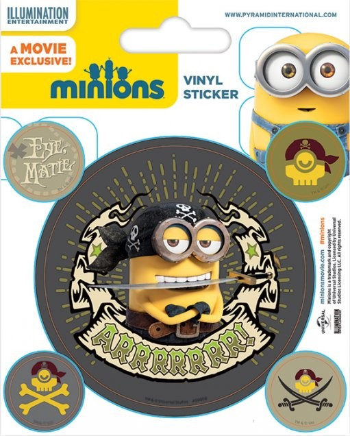 Minions (Despicable Me) - Pirates - Aufkleber