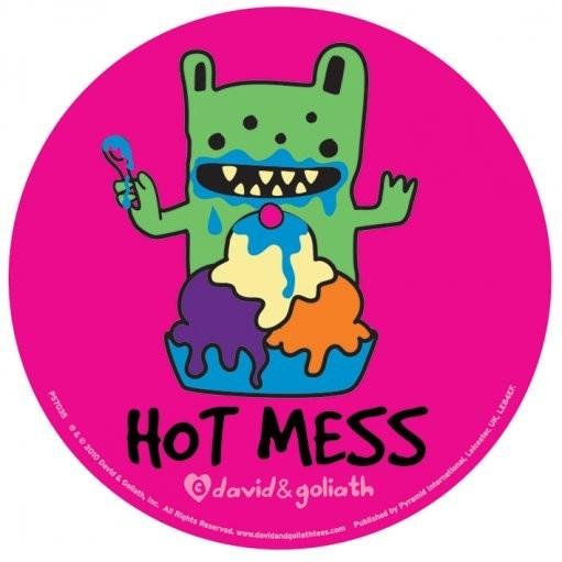 MONSTER MASH - hot mess - Aufkleber