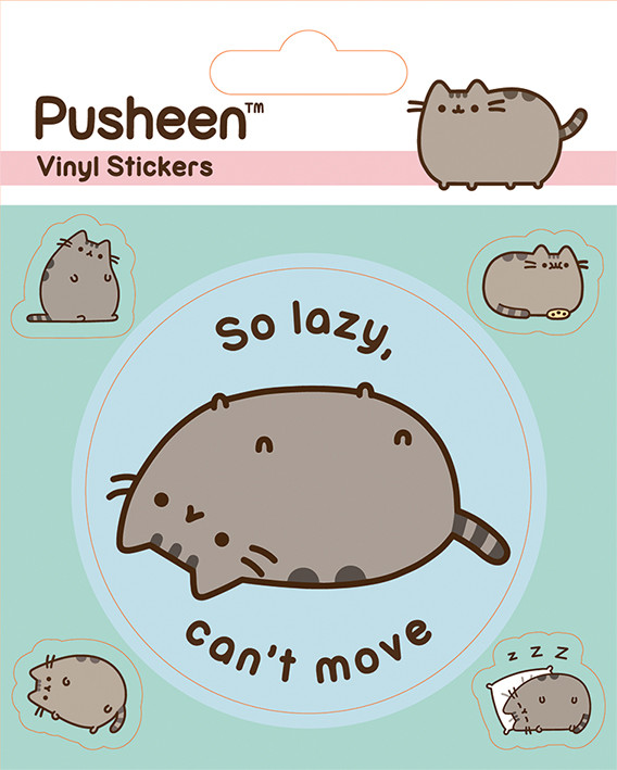 Pusheen Lazy   T-Shirt schwarz