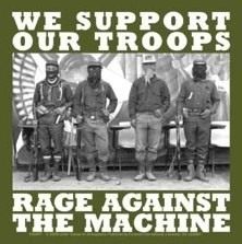 RAGE AGAINST THE MACHINE - troops - Aufkleber