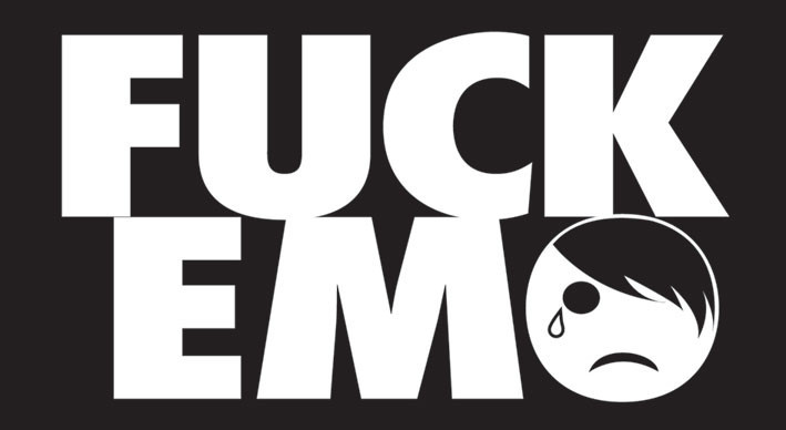 FUCK EMO Autocolant