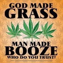 GOD MADE GRASS Autocolant